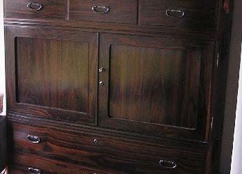 黒檀たんすの修理・家具修理