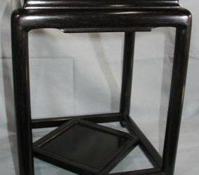 紫檀香炉台丸柱の修理・唐木家具修理