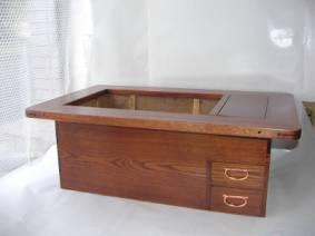 ケヤキ火鉢の修理・唐木家具修理