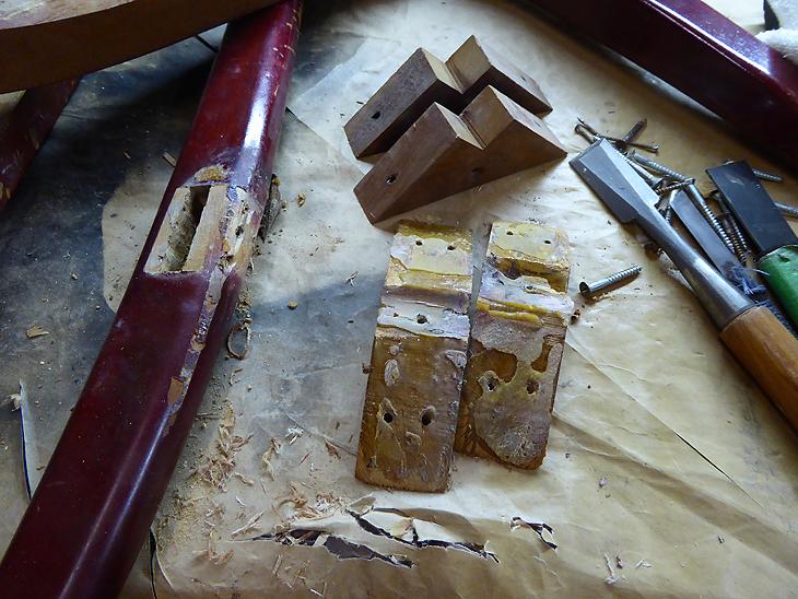 家具修理ー椅子の修理で・・・