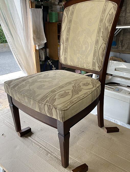 家具リフォームーダイニング椅子の脚高さ調節