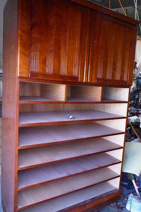 家具修理ー和箪笥の修理(部分修理)スライド蝶番交換