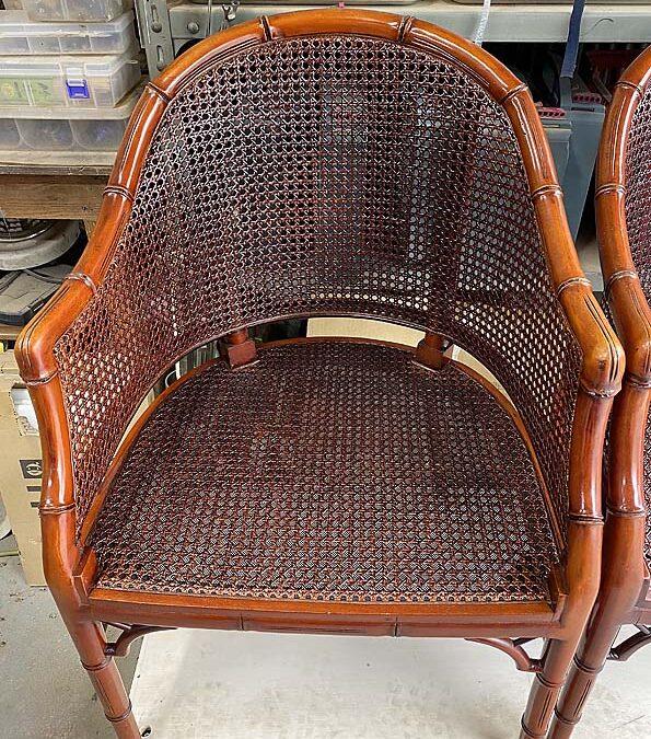 家具修理ー籐椅子張り替え