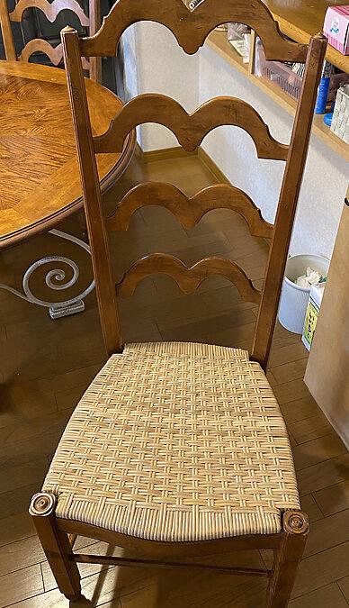 家具修理ー椅子手編み籐座面張り替え